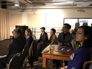 Audience at film screening