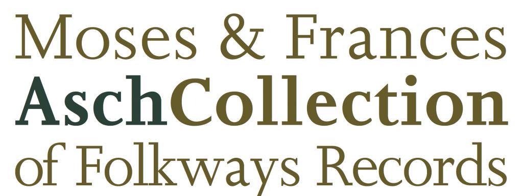 Moses & Frances Asch Collection - Logo V.1